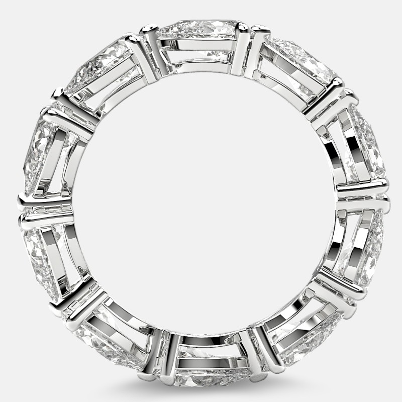 Classic Eternity Ring with Pear Shaped Diamonds in Platinum