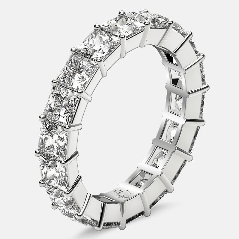 Classic Eternity Ring with Princess Cut Diamonds in Platinum