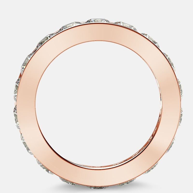 Channel Set Eternity Ring with Round Diamonds in 18k Rose Gold