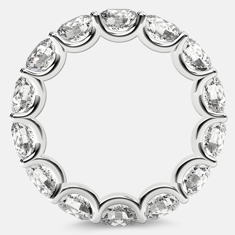 Eternity Ring with Arch Prong Set Round Diamonds in Platinum