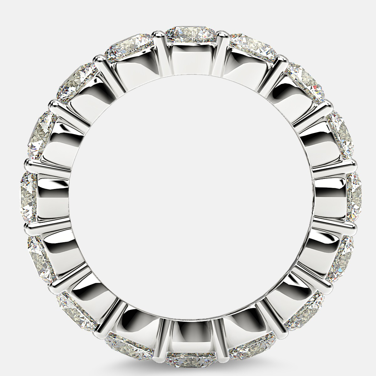 Eternity Ring with Prong Set Round Diamonds in Platinum