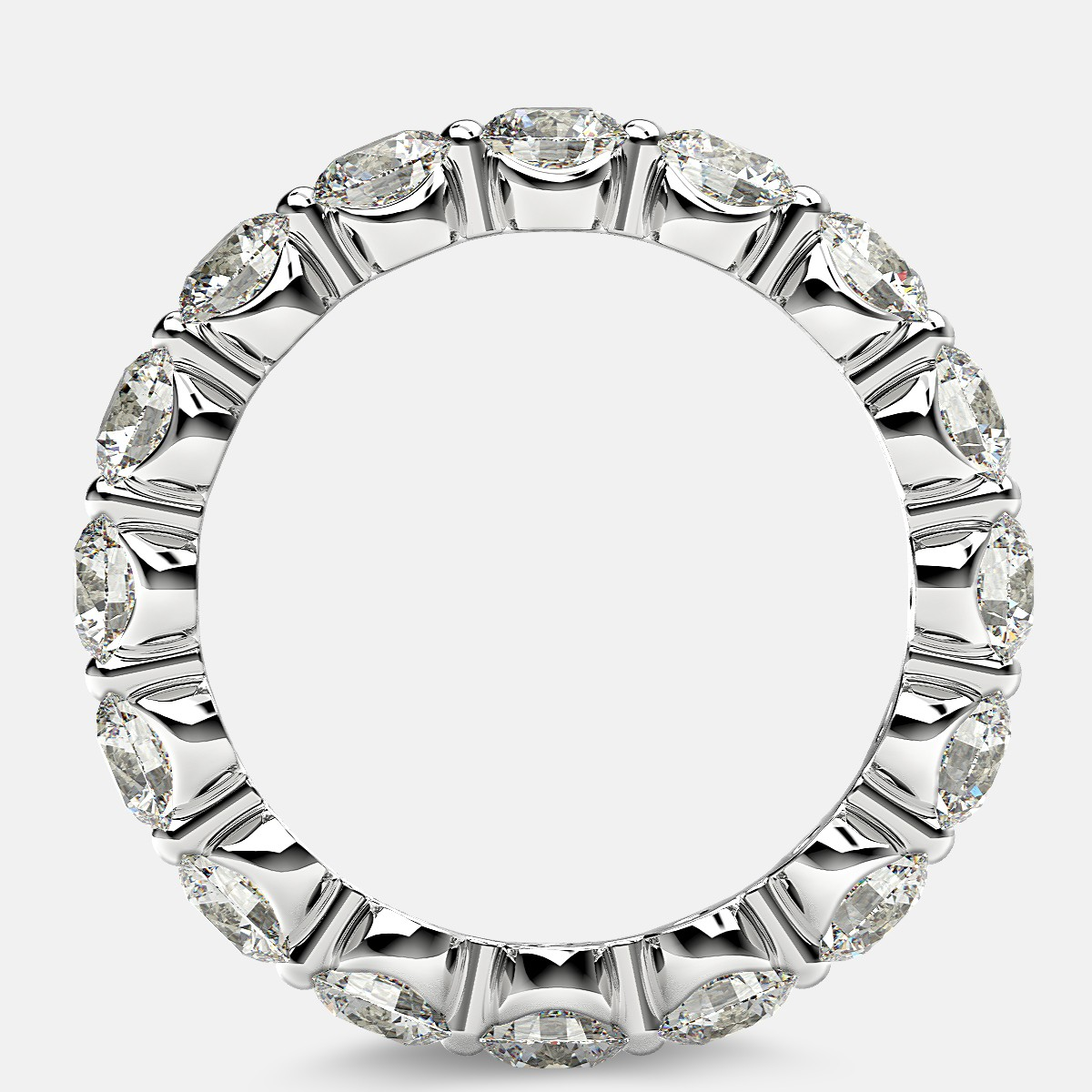Floating Eternity Ring with Round Diamonds in Platinum