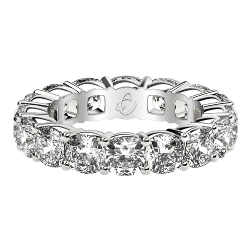 Cushion Eternity Rings